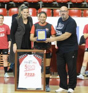 Stoiljkovićeva odigrala 500 utakmica u profesionalnoj karijeri