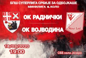 BPŠ Superliga Srbije za odbojkaše 6. kolo minilige OK Radnički - OK Vojvodina NS seme @ SBB hala Jezero