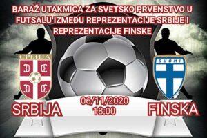 """Futsal reprezentacija Srbije dočekuje Finsku u """"SBB Jezeru"""""""