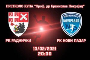 Read more about the article Radnički sa Pazarom za prolaz u četvrtfinale Kupa
