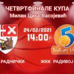 Košarkašice Radničkog protiv Koraća traže prolaz na završni turnir Kupa