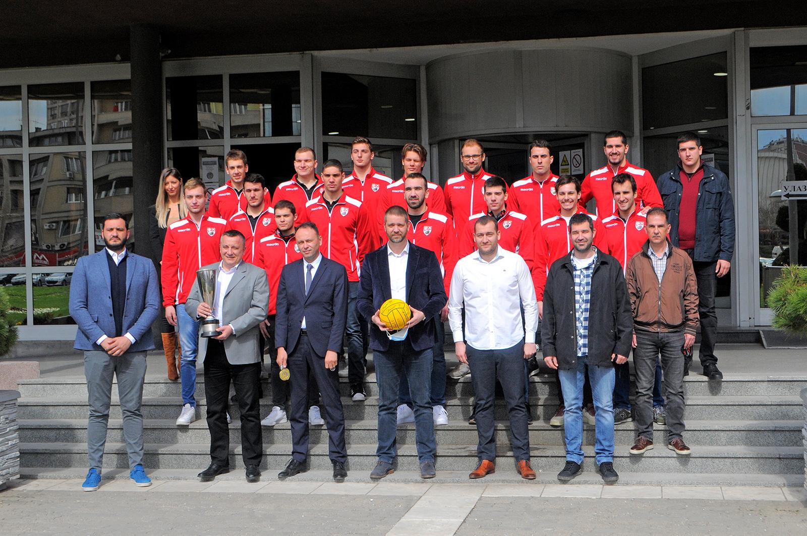 Gradonačelnik Kragujevca primio vaterpolo šampione Jadranske lige