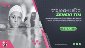 Read more about the article Vaterpolo klub Radnički osniva ženski tim, prijave u toku