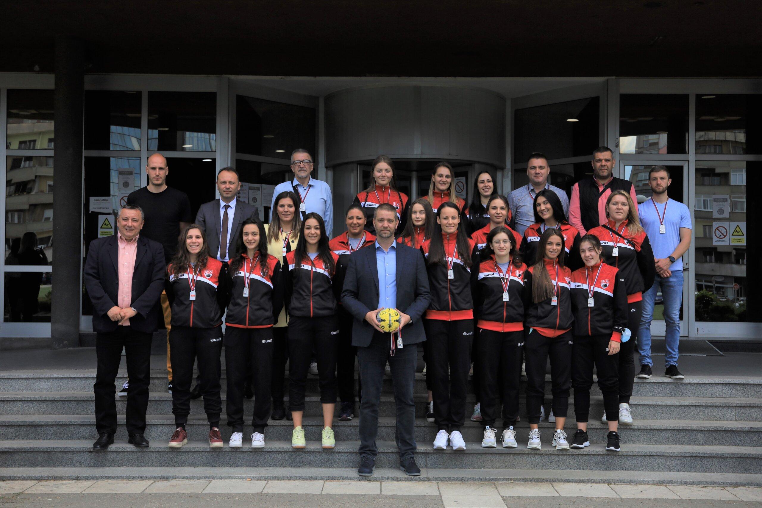 Prijem za vicešampionke Srbije u rukometu